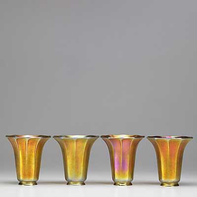 ART GLASS; Four contemporary art...