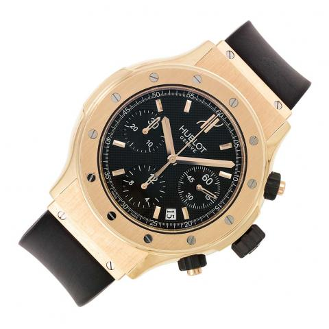 Gentleman's Rose Gold and Stainless Steel Chronograph Wristwatch, Hublot