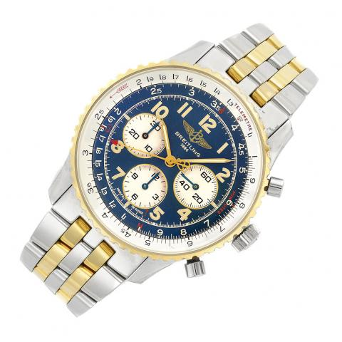 Gentleman's Stainless Steel and Gold Chronograph Wristwatch, Breitling
