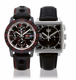 CHOPARD AND TAG HEUER, MILLE MIGLIA SPEED BLACK 2 AND MONACO HEUER