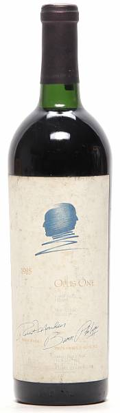 1 bt. Opus One, Mondavi & Rothschild, Napa Valley 1985 A/B (ts).