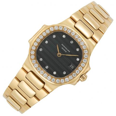 Lady's Gold and Diamond 'Nautilus' Wristwatch, Patek Philippe & Co.