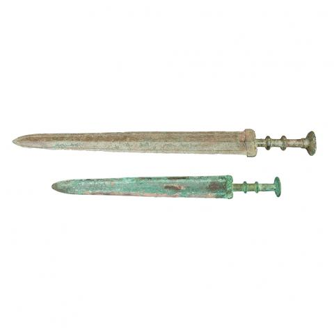 Two Chinese Bronze Swords