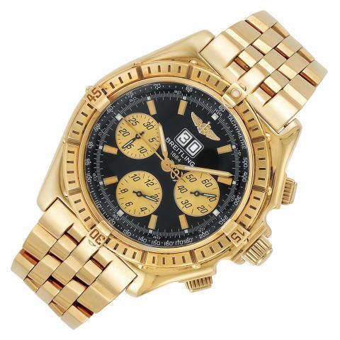 Gentlemans Gold Crosswind Special Chronograph Wristwatch, Breitling