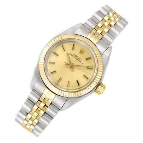 Lady's Stainless Steel and Gold Wristwatch, Rolex