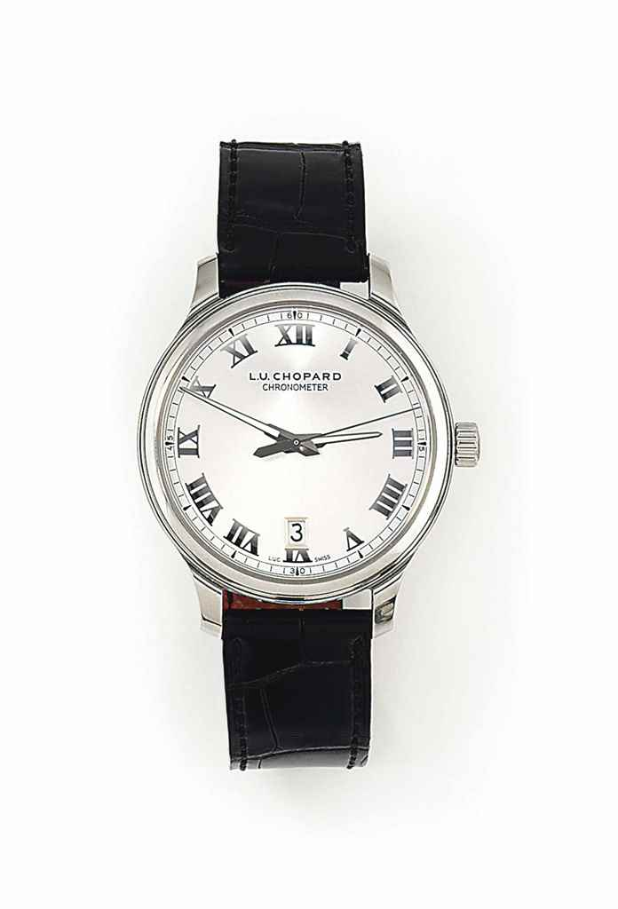 A STAINLESS STEEL AUTOMATIC WRISTWATCH, BY CHOPARD