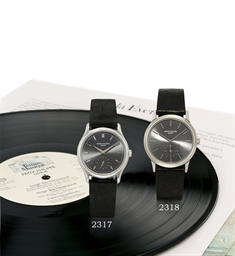 """PATEK PHILIPPE, CALATRAVA, REF. 3923STAINLESS STEEL MANUALLY-WOUND WRISTWATCH WITH ORIGINAL CERTIFICATE AND BOX """"LE TEMPS ET LA MUSIQUE"""", LIMITED EDITION MADE FOR THE JAPANESE MARKET TO COMMEMORATE THE 150TH ANNIVERSARY OF PATEK PHILIPPE IN 1989"""