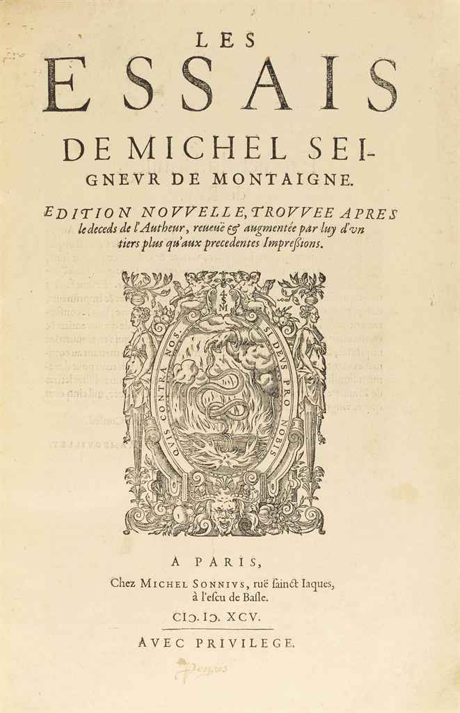 michel de montaigne essays gutenberg Michel eyquem de montaigne (french: [miʃɛl ekɛm də mɔ̃tɛɲ] 28 february 1533 – 13 september 1592) was one of the most influential writers of the french renaissance, known for popularizing the essay as a literary genre, and commonly thought of as the father of modern skepticism.