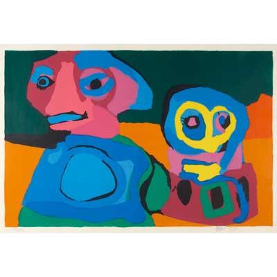 KAREL APPEL (Dutch, 1921-2006); Two...