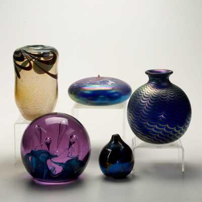 CONTEMPORARY ART GLASS; Five...