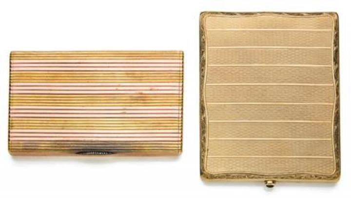 Two Gold Cigarette Cases