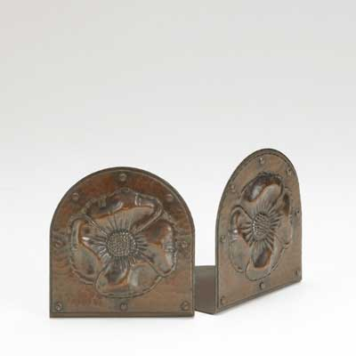 ROYCROFT; Copper bookends with...