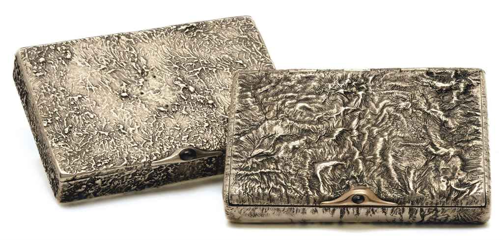 TWO SILVER SAMORODOK CIGARETTE CASES,