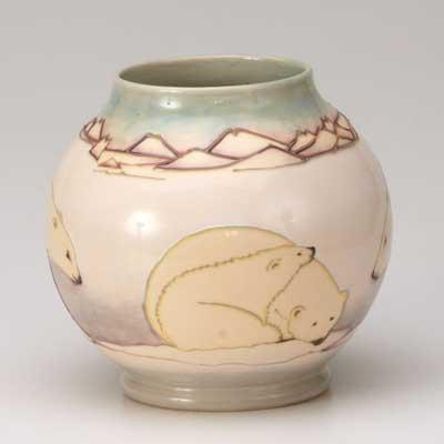 MOORCROFT; Vase decorated with...