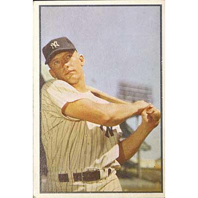 BOWMAN MICKEY MANTLE BASEBALL CARD;...