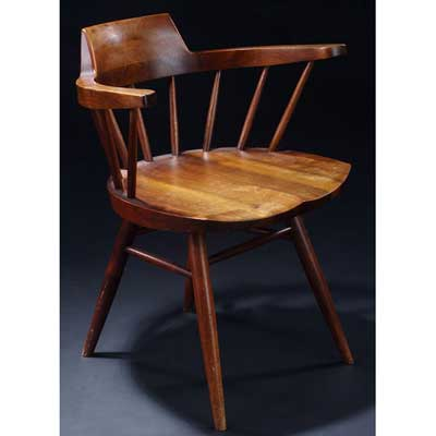 GEORGE NAKASHIMA Walnut Arm chair....