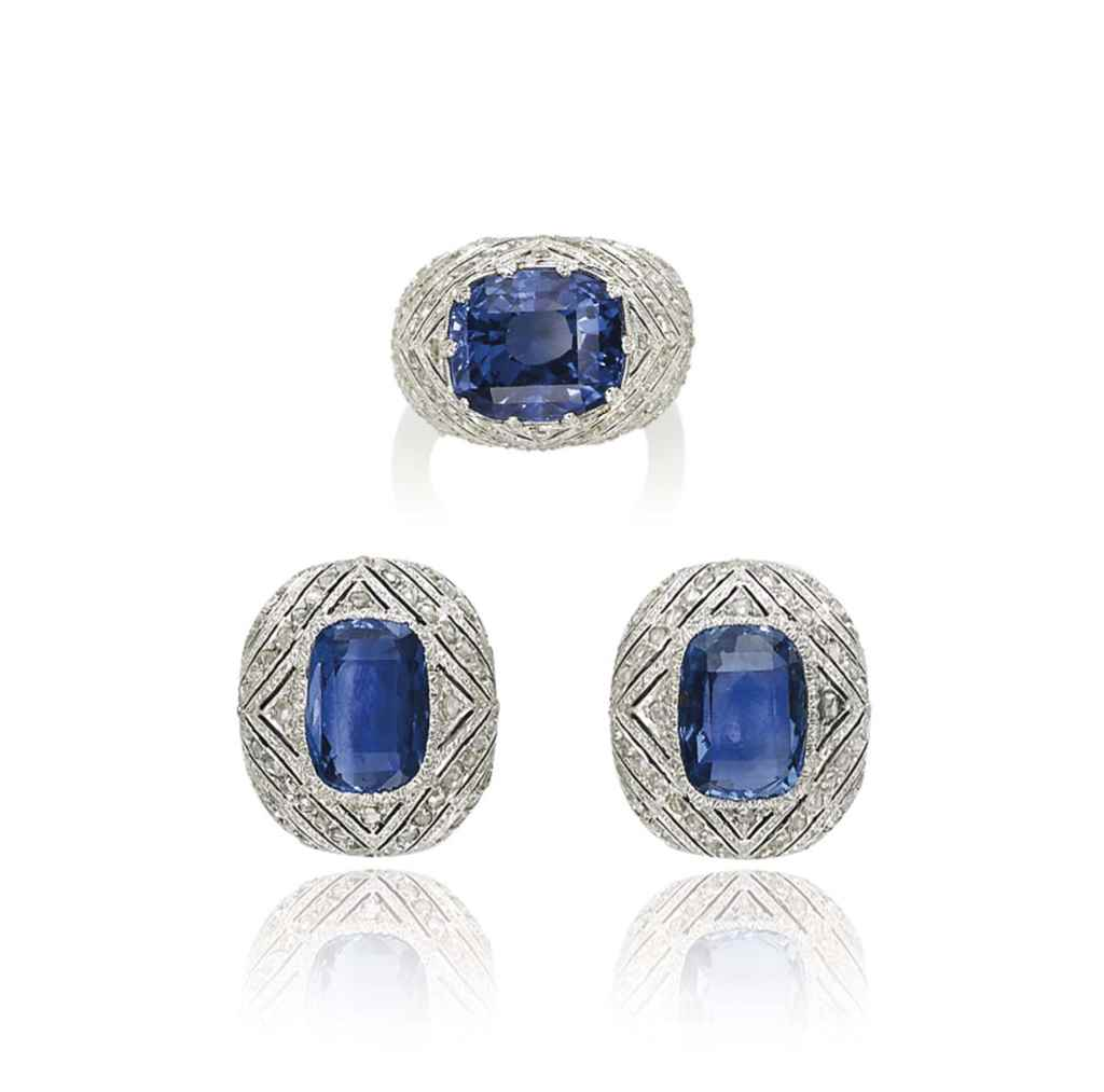 A SET OF SAPPHIRE AND DIAMOND JEWELLERY, BY BUCCELLATI