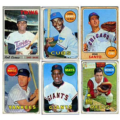 BASEBALL CARDS; 80+ cards from...