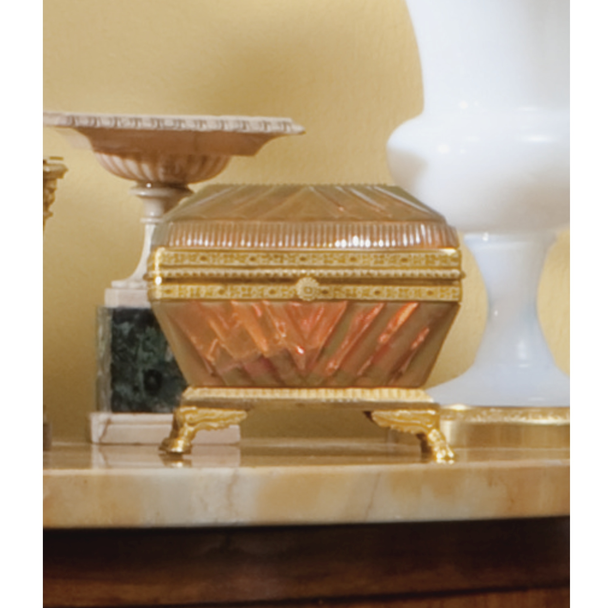Two gilt-bronze-mounted cut-glass caskets