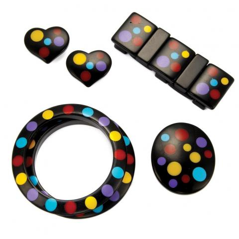 Group of Multicolored Bakelite and Plastic Jewelry
