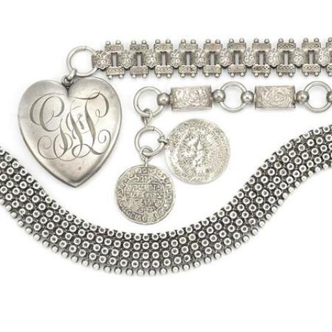 Three Antique Silver Necklaces