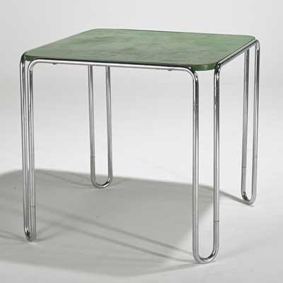 MARCEL BREUER; Dining table,...