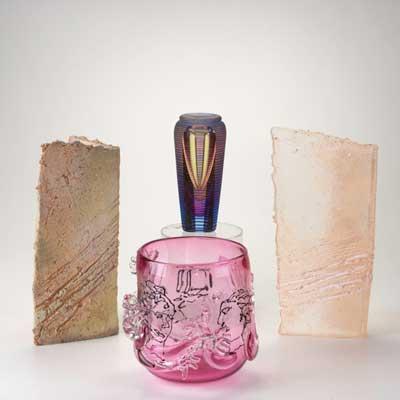 CONTEMPORARY ART GLASS; Four...