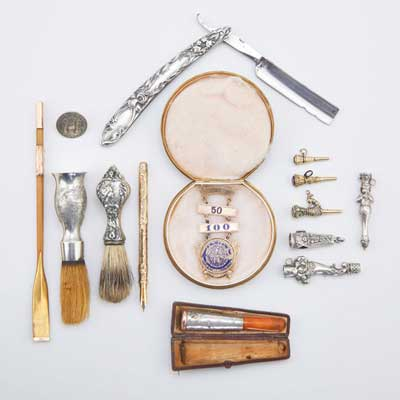 ANTIQUE GOLD, SILVER AND OTHER...