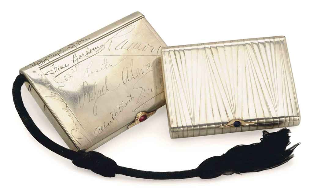 TWO RUSSIAN SILVER CIGARETTE CASES,