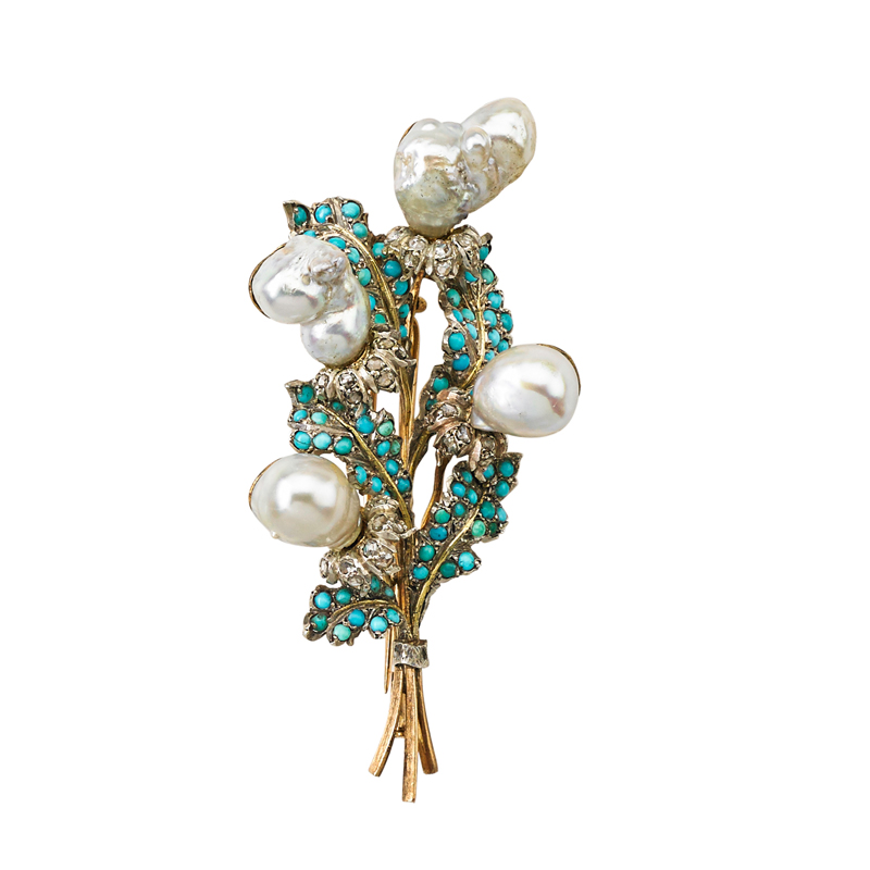 BUCCELLATI JEWELED GOLD BOUQUET...