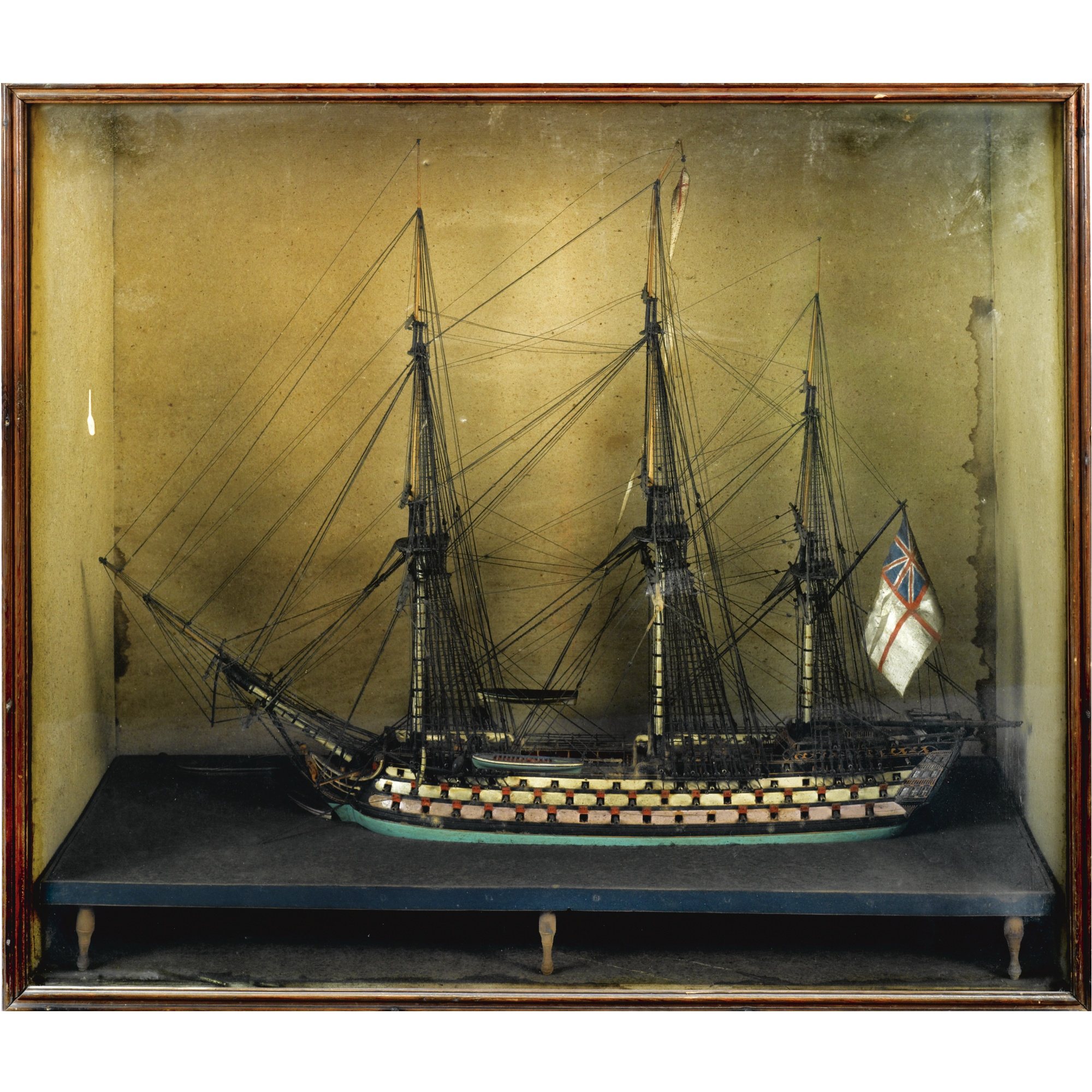 A George III ships model of a Man-O-War