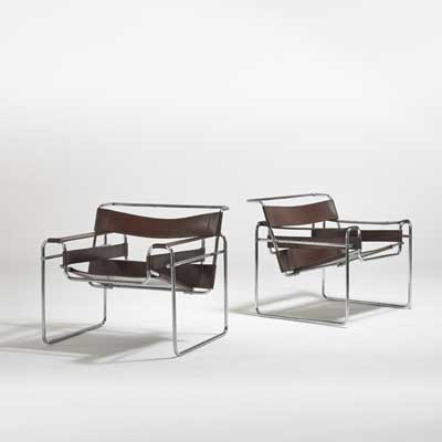 MARCEL BREUER; Pair of Wassily...