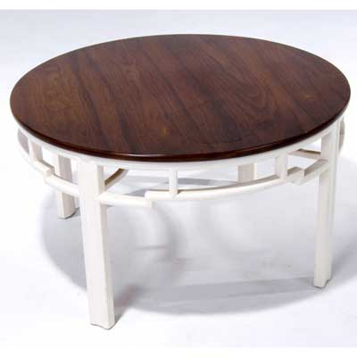 MODERN Round occasional table with...