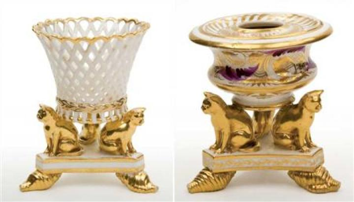 Derby Porcelain Inkwell