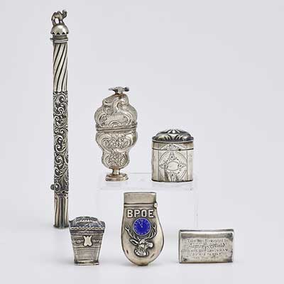 SILVER MATCH SAFES, SNUFF BOXES,...