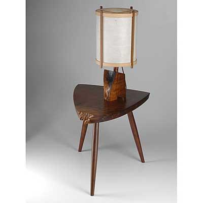 GEORGE NAKASHIMA; Walnut Wohl table...