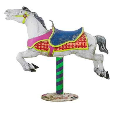 COCA-COLA TRADEMARK CAROUSEL HORSE