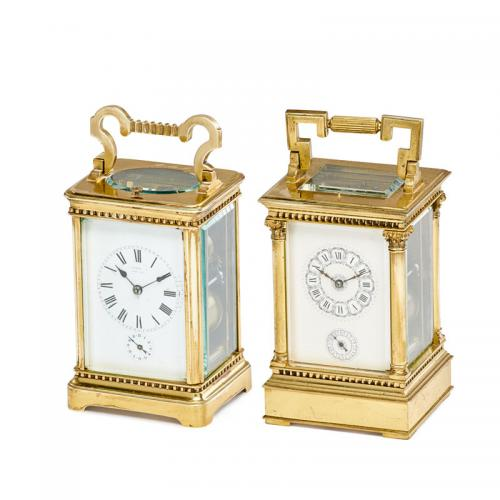 ASSEMBLED PAIR OF CARRIAGE CLOCKS