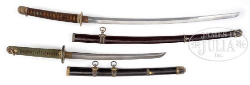 TWO JAPANESE SWORDS.