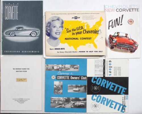 CHEVROLET CORVETTE PUBLICITY PHOTOS BROCHURES ETC.