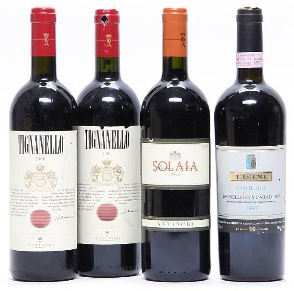 1 bt. Solaia, Marchesi Antinori 2000 A (hf/in).  etc. Total 4 bts.