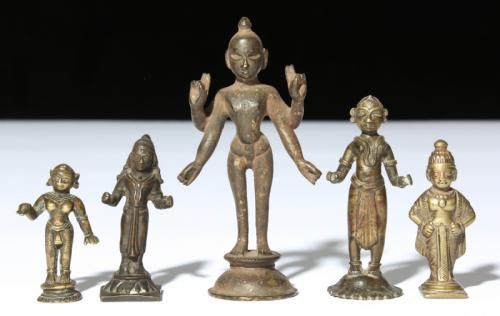 Five Indian Bronze Statues, Circa 1750-1850