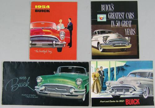 Seven Vintage Buick Automobile Brochures