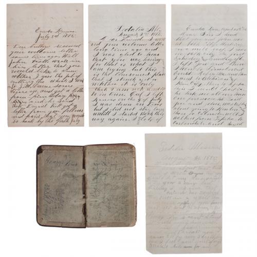 Correspondence Regarding Brutal Western Murder by Hatchet of Henry Toggenburger, Sedalia, Missouri, 1885
