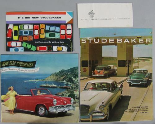 Six Vintage Studebaker Automobile Brochures