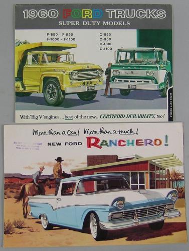 Five Vintage Ford Truck Brochures
