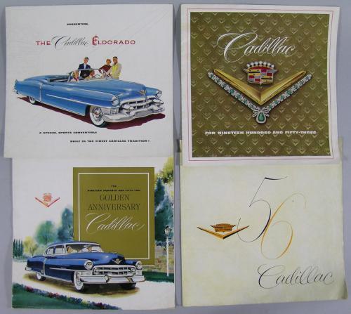 Eight Vintage Cadillac Automobile Brochures