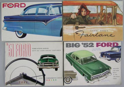 Eighteen Vintage Ford Automobile Brochures