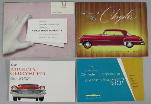 Seventeen Vintage Chrysler Automobile Brochures