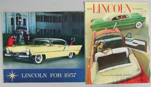 Eight Vintage Lincoln Automobile Brochures